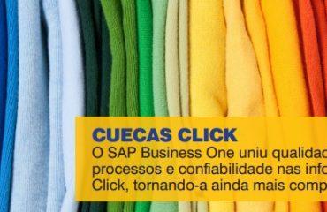 O SAP Business One uniu qualidade nos  processos e confiabilidade nas informações da  Click, tornando-a ainda mais competitiva.